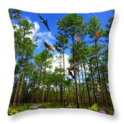 Withlacoochee State Forest Nature Collage Throw Pillow