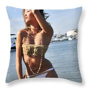 Without A Care Throw Pillow