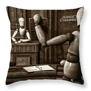 Witness For The Prosecution Throw Pillow by Bob Orsillo