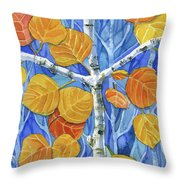 Witness Of Creation Throw Pillow