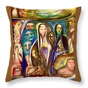 Witnessed With Sister Beyond Reasoning Or Mystery Throw Pillow