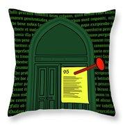 Wittenberg 1517 Throw Pillow