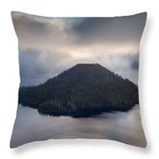 Wizard Among The Mists Throw Pillow
