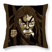 Wizard From The Desert  Throw Pillow