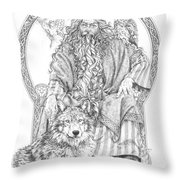 Wizard IIi - The Family Portrait Throw Pillow