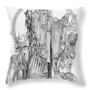Wizard Iv - Wandering Wiseman - Pax Consensio Throw Pillow