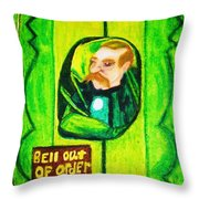 Wizard Of Oz Gate Keeper  Throw Pillow