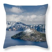 Wizard With Partial Snow Mantle Throw Pillow