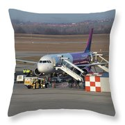 Wizz Air Jet And Fire Brigade   Throw Pillow