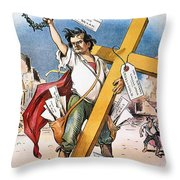 W.j. Bryan: Cross Of Gold Throw Pillow
