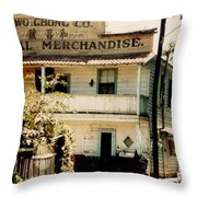 Wo Chong General Store Courtland Ca Throw Pillow