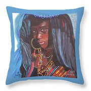 Virtuous Wodaabe Girl          From The Attitude Girls  Throw Pillow