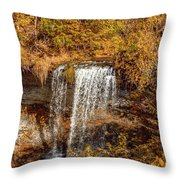 Wolcott Falls Ledge Throw Pillow by William Norton