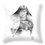 Wolf Barbarian Throw Pillow