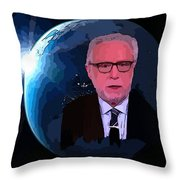 Wolf Covers The World Throw Pillow