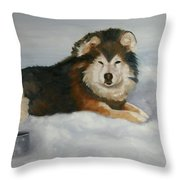 Wolf ,crossed  Throw Pillow