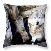 Wolf Den 1 Throw Pillow
