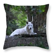 Wolf Greeting Throw Pillow