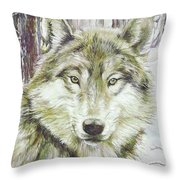 Wolf Head Throw Pillow