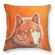 Wolf Home Burning Throw Pillow