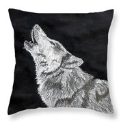 Wolf Howl Throw Pillow