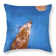Wolf In The Night Throw Pillow