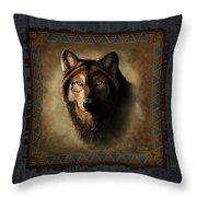 Wolf Lodge Throw Pillow