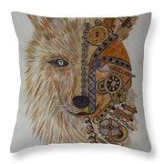 Wolf Machine Throw Pillow
