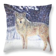 Wolf Of The North Throw Pillow