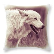 Wolf Of Yellowstone National Park Throw Pillow