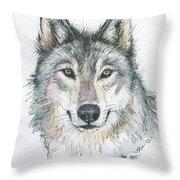 Wolf Throw Pillow by Olga Shvartsur