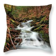 Wolf Run 1 Throw Pillow