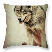 Wolf Wonder Throw Pillow