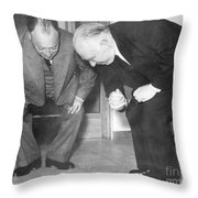 Wolfgang Pauli And Niels Bohr Throw Pillow