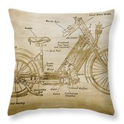 Wolfmueller Motor Cycle 1894 Throw Pillow