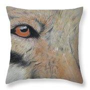 Wolf's Gaze Throw Pillow