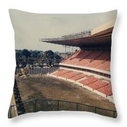 Wolverhampton - Molineux - Molineux Street John Ireland Stand 3 - 1979 Throw Pillow