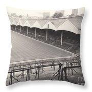 Wolverhampton - Molineux - Molineux Street Stand 1- Bw - Leitch - September 1968 Throw Pillow