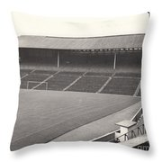 Wolverhampton - Molineux - South Terrace 1 - Bw - Leitch - September 1968 Throw Pillow