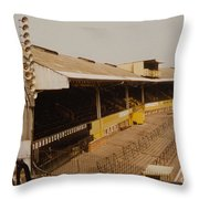 Wolverhampton - Molineux - Waterloo Road Stand 2 - Leitch - 1970s Throw Pillow