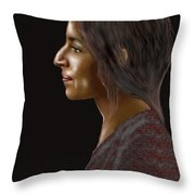 Woman 20 Throw Pillow