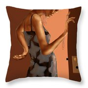 Woman 37 Throw Pillow