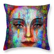 Woman 395 Throw Pillow