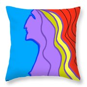 Woman 6 Throw Pillow