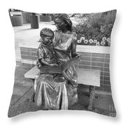 Woman And Child Sculpture Grand Junction Co Throw Pillow