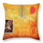 Woman And Life Throw Pillow