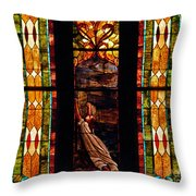 Woman And The Cross Throw Pillow