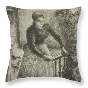 Woman At The Gate Throw Pillow