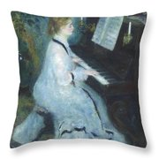 Woman At The Piano Throw Pillow