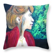Woman At The Window Throw Pillow